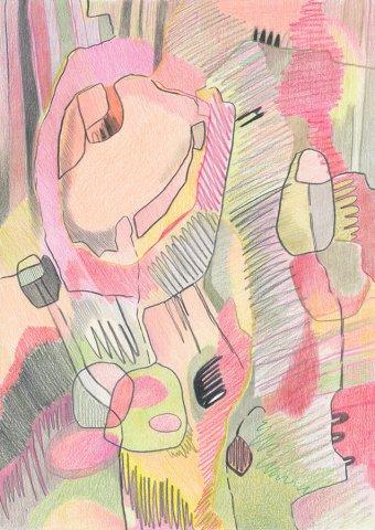 The Secret Garden II. Color pencils on paper, 21x29,7 cm. 2019